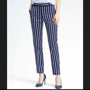 Ryan Slim Straight-Fit Luxe Twill Stripe Pant